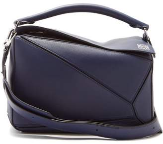 Loewe Puzzle Leather Bag - Womens - Navy