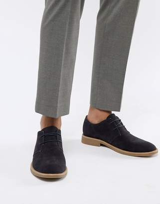 New Look faux suede desert shoes in navy