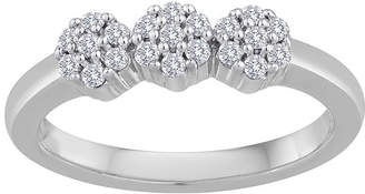 JCPenney FINE JEWELRY diamond blossom 1/4 CT. T.W. Diamond 10K White Gold Cluster Ring