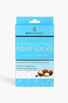 boohoo Skin Academy Exfoliating Foot Socks - Macadamia