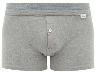 Schiesser Karl Heinz Stretch Cotton Boxer Briefs - Mens - Grey