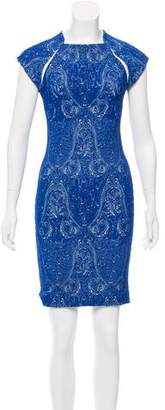 Yigal Azrouel Embroidered Mini Dress