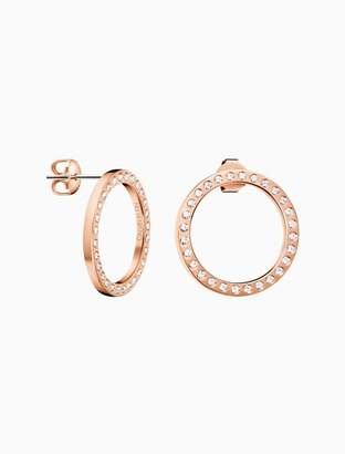 Calvin Klein hook rose gold earrings