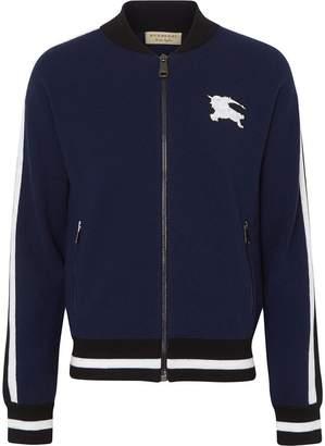 Burberry EKD Logo Merino Wool Varsity Jacket