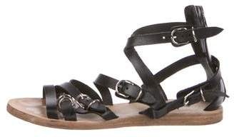 Balenciaga Leather Buckle Sandals