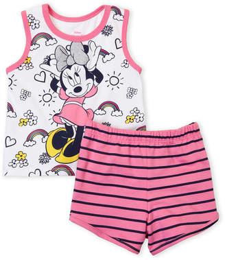 Minnie Mouse (Toddler Girls) Two-Piece Minnie Tank & Stripe Shorts Set