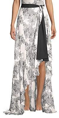 Chiara Boni Women's Iggy Georgette Print Side Slit Maxi Skirt