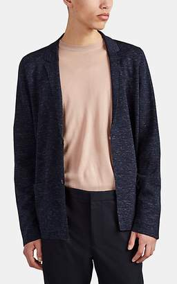 Lanvin Men's Merino Wool-Blend Compact Knit Cardigan - Blue