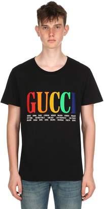 Gucci City Print Cotton Jersey T-Shirt