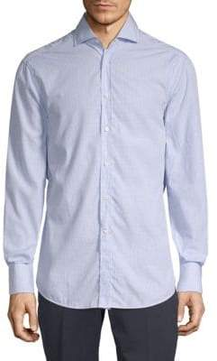 Brunello Cucinelli Checkered Cotton Button-Down Shirt