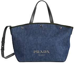 Prada Women's Medium Denim Shopper