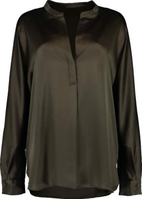 Vince Pull On Silk Blouse