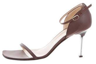 Chanel Square-Toe High-Heel Sandals