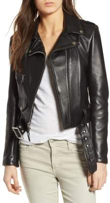 Schott NYC Crop Leather Jacket