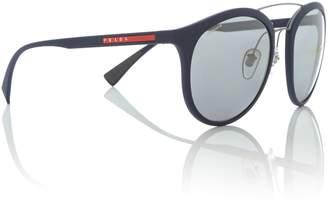 Prada Linea Rossa Blue rubber phantos 0PS 04RS sunglasses