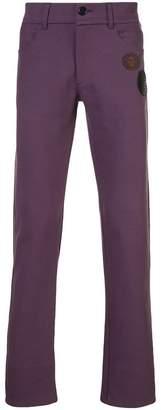 Yang Li straight leg patch embellished trousers