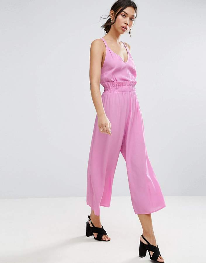AsosASOS Jumpsuit with Frill and Wide Leg