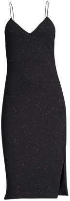 Alice + Olivia Stila Fitted Side Slit Midi Dress