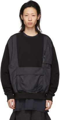 D.gnak By Kang.d Black Vest Pocket Sweatshirt