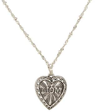 DAY Birger et Mikkelsen 1928 Jewelry Mother's Items Pewter Heart Mom Pendant