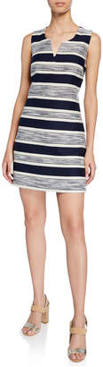 Modern American Designer Sleeveless Woven Stripe Dress
