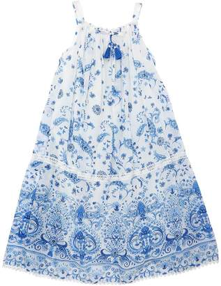 Ermanno Scervino Printed Cotton & Silk Muslin Dress