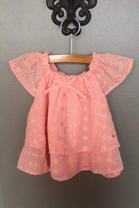Mayoral Crepe Embroidered Blouse