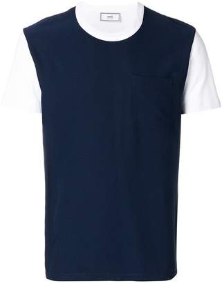 Ami Alexandre Mattiussi crewneck T-shirt contrasted fabric front panel