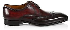 Saks Fifth Avenue Men's COLLECTION BY MAGNANNI Burnished Leather Wingtip Derby Dress Shoes