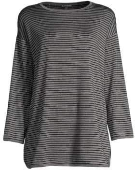 Eileen Fisher Striped Tencel Tee