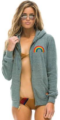 Aviator Nation Rainbow Embroidery Zip Hoodie