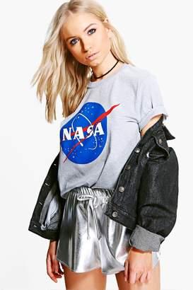 boohoo Nasa Licence T-Shirt