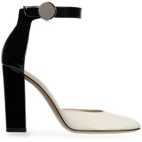 Gianvito Rossi Two-Tone Patent-Leather Pumps