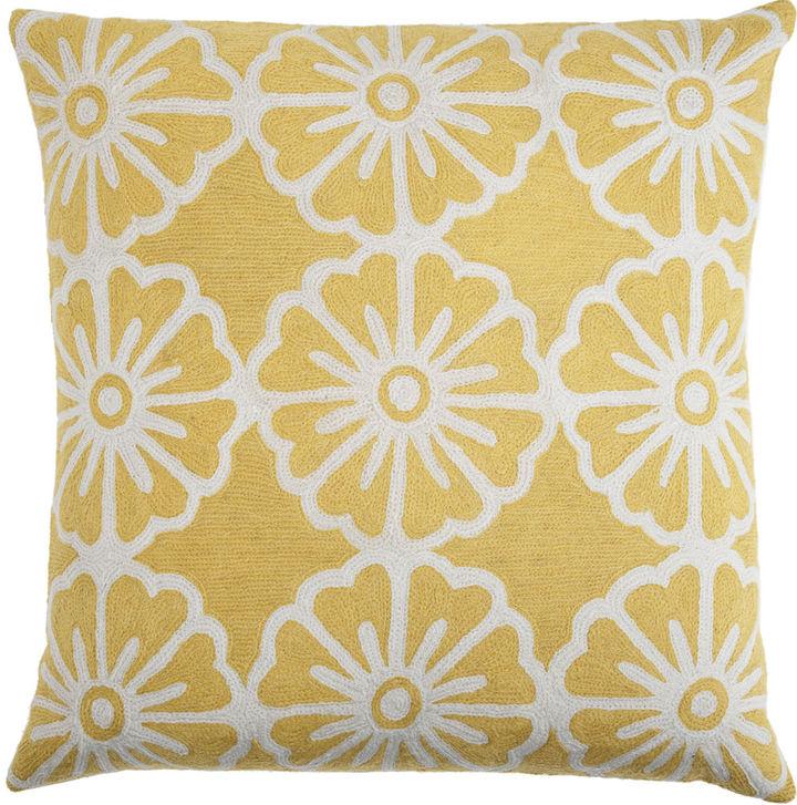 Judy Ross Small Pinwheels Pillow- Pink/Yellow