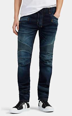 Balmain Men's Skinny Biker Jeans - Blue