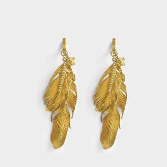 Versace Tribute Native American Earrings in Gold Brass