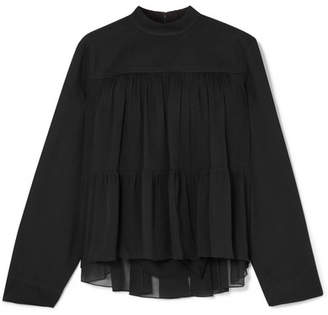 Chloé Crepon Blouse - Black