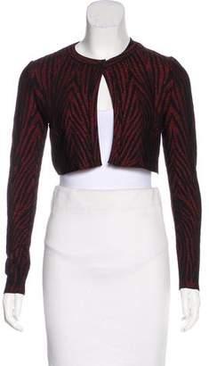 Alaia Metallic Crop Cardigan