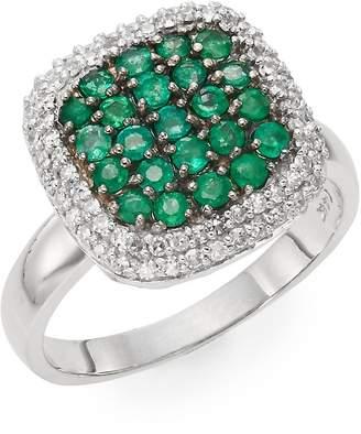 Effy Women's Emerald, Diamond & 14K White Gold Ring - White Gold