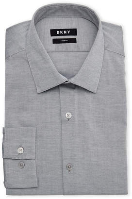DKNY Grey Slim Fit Dress Shirt