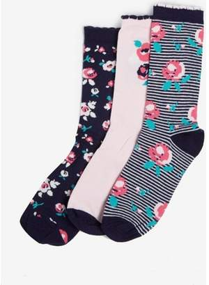 Dorothy Perkins Womens Multi Coloured 3 Pack Floral Socks