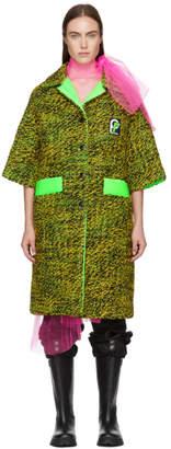 Prada Green Tweed Short Sleeve Coat