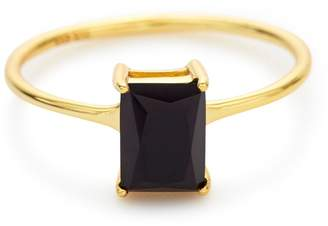 Stella and Bow Neptune Ring - Black Spinel - 7