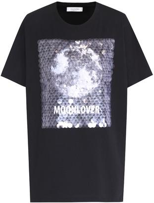 98298c2b Valentino Sequin-embellished cotton T-shirt