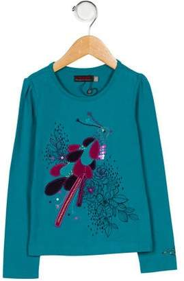Catimini Girls' Embroidered Long Sleeve Top