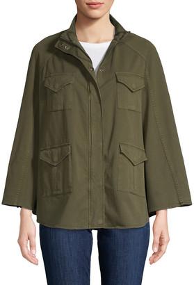 Haute Hippie Draped Military Jacket