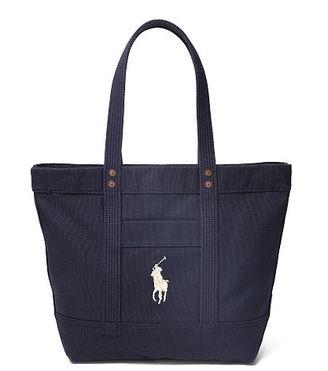 Polo Ralph Lauren Canvas Big Pony Tote $98 thestylecure.com