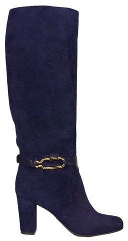 Sergio Rossi Boots with Golden Buckle