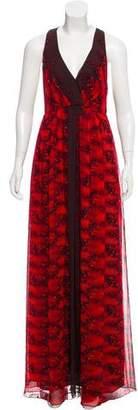 Tibi Silk Floral Maxi Dresss w/ Tags