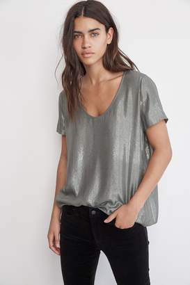 Velvet by Graham & Spencer AGATHA SCOOP NECK LAMA TOP